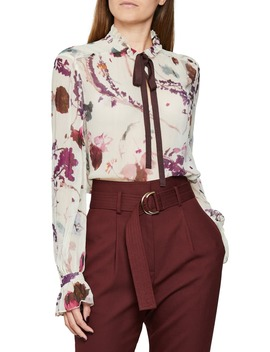 Rosa Romantic Floral Blouse by Reiss