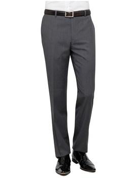 Textured Plain Travel Trouser by Geoffrey Beene