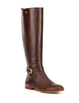 Enston Slim Calf Leather Tall Riding Boots by Alex Marie