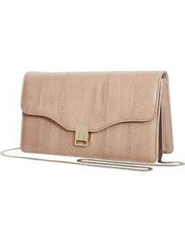 Olivia Genuine Snakeskin & Leather Shoulder Bag by Reiss