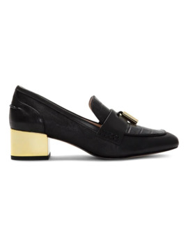 Lanton Leather Heeled Loafers by Louise Et Cie