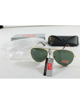 Ray Ban Aviator Gold Frame / Dark Grey Lens Rb3025 58mm Sunglasses by Ray Ban