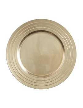 Champagne Charger Plate by Pier1 Imports
