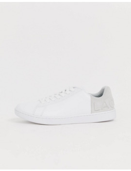 Lacoste Contrast Lace Up Trainer In White by Lacoste