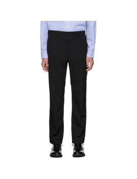 Black Wool Gabardine Trousers by Comme Des GarÇons Homme