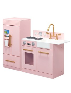 Teamson Kids Urban Luxury Play Kitchen   Pink by Teamson Kids