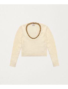 Sweater In Wool And Sterling Silver by Bottega Veneta