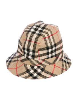 Wool House Check Bucket Hat by Burberry