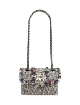 Mini Mayfair Tweed Crossbody Bag by Kurt Geiger London
