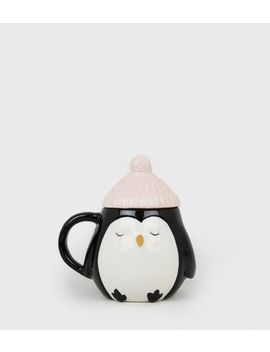 Black Penguin Hat Mug by New Look