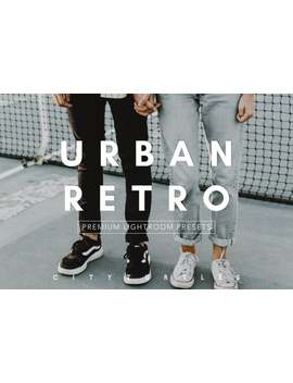 Urban Retro   Clean Moody Editorial Lightroom Presets Pack For Desktop & Mobile   One Click Photographer Editing Tools by Etsy