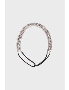 Elastic Headband With Rhinestones by Zara