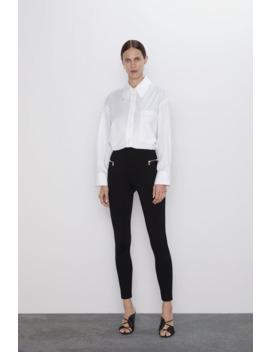 Legging Taille Haute À Zips by Zara