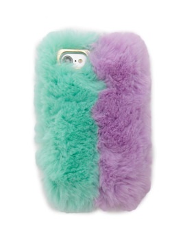 Faux Fur Colorblock Case For I Phone 6/7/8 by Forever 21