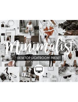 3 Desktop Lightroom Presets *Minimalist* Bright Clean Instagram Influencer Preset For Lifestyle Fashion Blog, Minimal Lightroom Classic Cc by Etsy