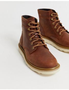 Коричневые кожаные походные ботинки Caterpillar   Chronicle by Cat
