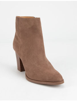 Qupid Clean Taupe Womens Booties by Qupid