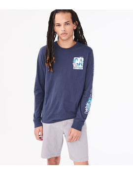 Long Sleeve California West Coast Graphic Tee by Aeropostale