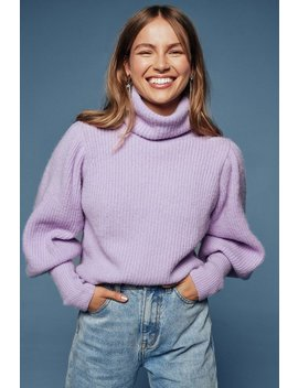 Get Knit Right Turtleneck Balloon Sleeve Sweater by Nasty Gal