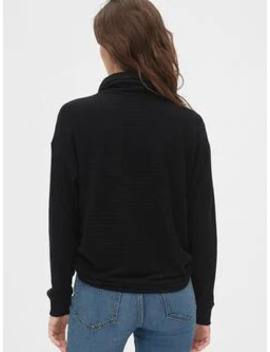 Ribbed Funnel Neck Pullover Sweater by Gap