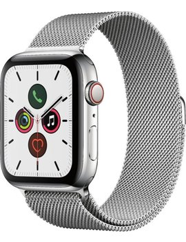 Apple Watch Series 5 (Gps + Cellular) 44mm Stainless Steel Case With Stainless Steel Milanese Loop   Stainless Steel (Verizon) by Apple