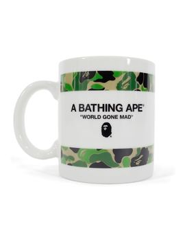 Bape Abc Camo Ceramic Mug Green by Stock X