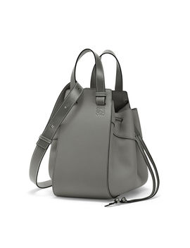 Hammock Drawstring Medium Bag 				 				 				 				 				 				 				Gunmetal by Loewe