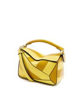 Puzzle Rugby Small Bag 				 				 				 				 				 				 				Ochre/Yellow by Loewe