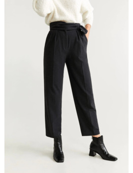 Pantaloni Drepți Cu Pense by Mango