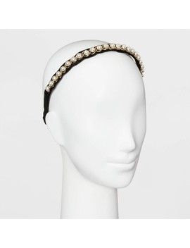 Fabric Pearl Headband   A New Day™ Gold by A New Day