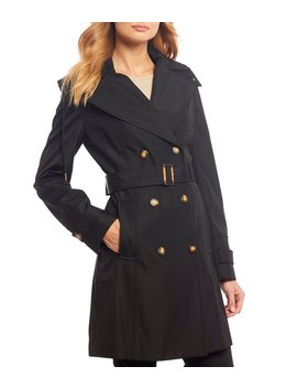 Double Breasted Trench Coat by Calvin Klein