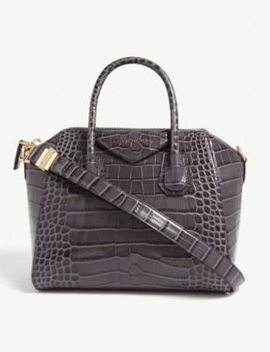 Antigona Small Croc Embossed Leather Tote Bag by Givenchy