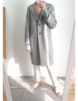 Jil Coat  Minimalist Cashmere Wool Coat by Etsy