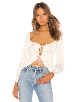 Waldorf Top In Ivory by Majorelle