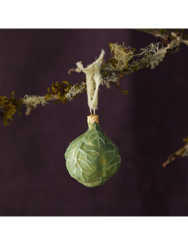 Brussel Sprout Glass Ornament by Terrain