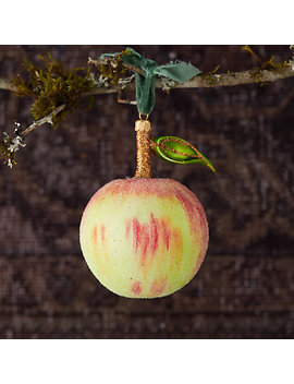 Crisp Apple Glitter Glass Ornament by Terrain
