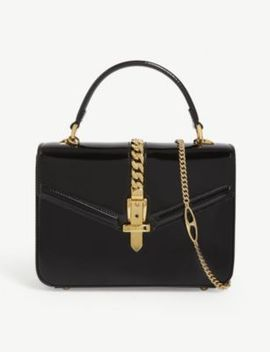Sylvie Patent Leather Mini Tote by Gucci