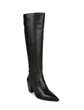 Lindsey Leather Tall Block Heel Boots by Sam Edelman