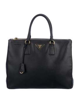 Large Double Zip Galleria Tote by Prada