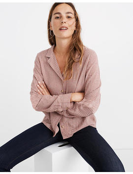 Plaid Button Front Pajama Shirt by Madewell