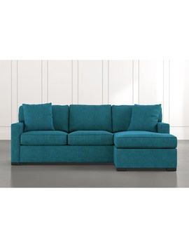 Taren Ii Teal Reversible Sofa/Chaise Sleeper W/Storage Ottoman by Living Spaces