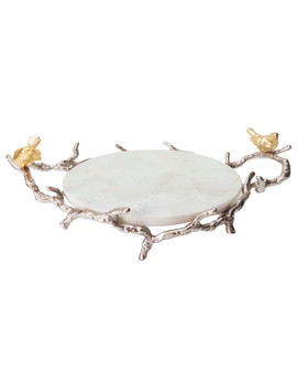 "Alvada Decorative Marble Tray 17""X10\""X6\ by A&B Home"