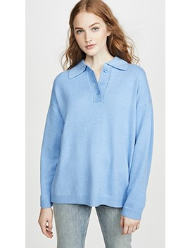 Oversized Collar Pullover by Moon River