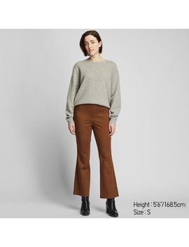 Women Flared Ankle Length Trousers by Uniqlo