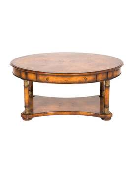 Bookmatched Burlwood Oval Coffee Table by Furniture