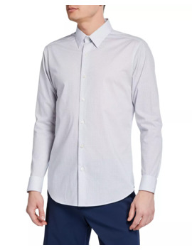 Men's Sylvain Orton Print Sport Shirt by Theory