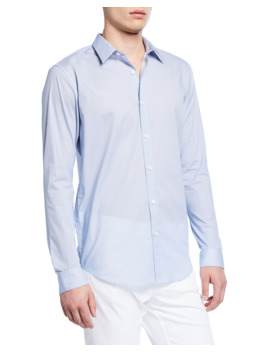 Men's Irving Mast Print Sport Shirt by Theory