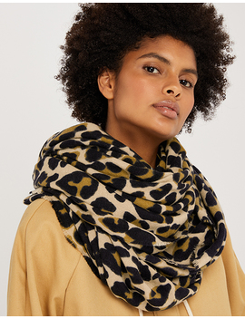 Retro Leopard Soft Blanket Scarf by Accessorize
