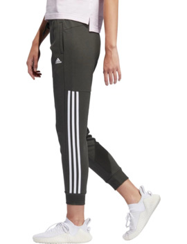 Adidas Women's Post Game Solid 3 Stripe Jogger Pants by Adidas