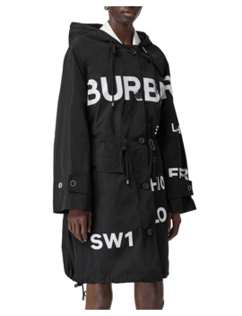 Logo Print Anorak Coat by Burberry